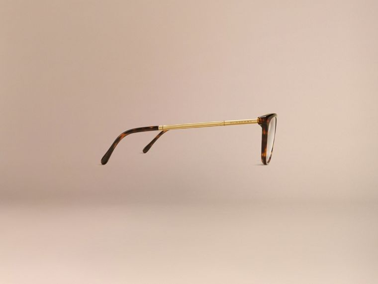 Tortoise shell Gabardine Collection Cat-Eye Optical Frames Tortoise Shell - cell image 4