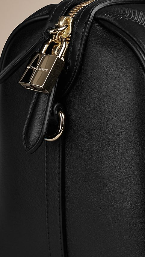 Black The Medium Alchester in Embossed Check Leather - Image 7
