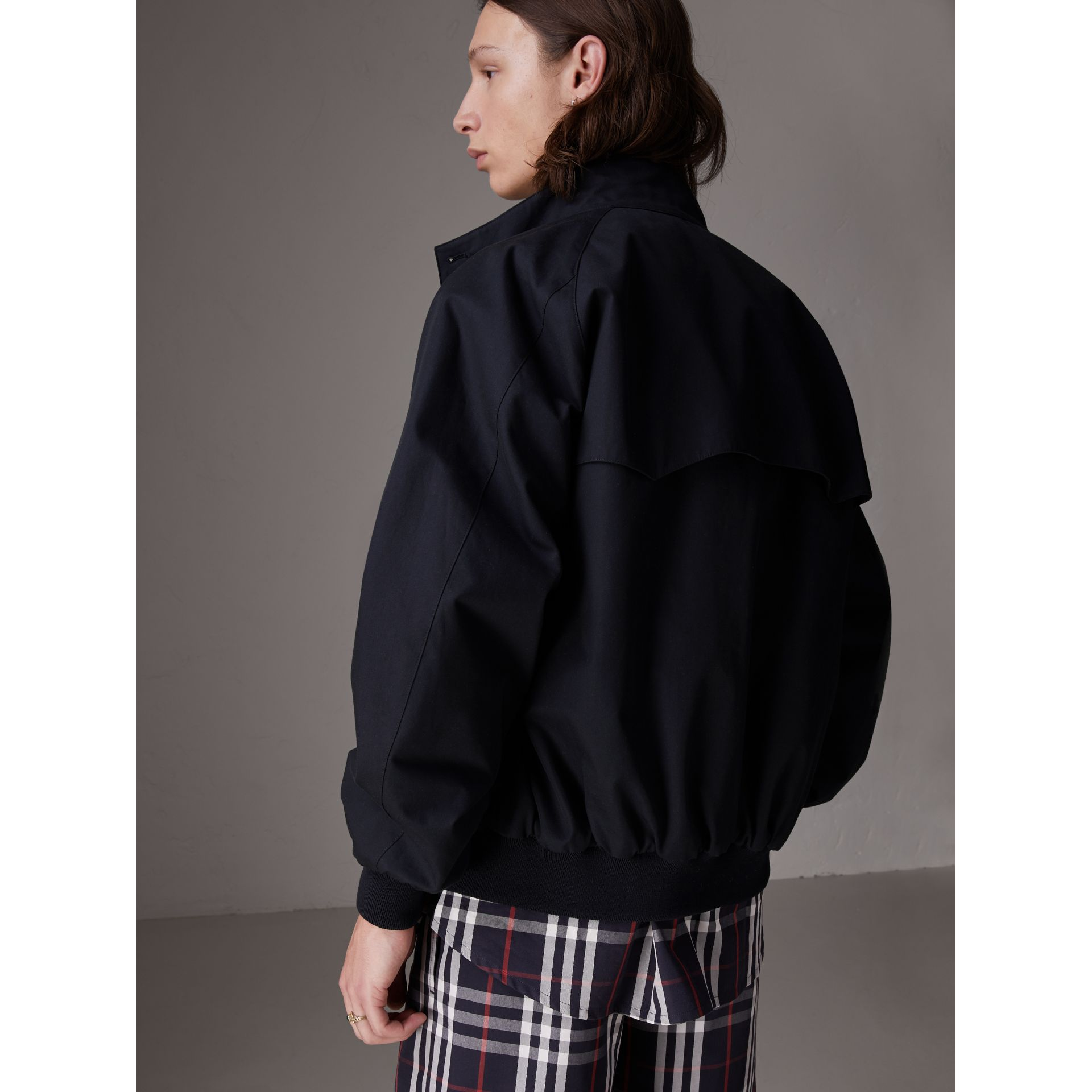 Gosha x Burberry Reversible Harrington Jacket in Navy | Burberry - gallery image 7