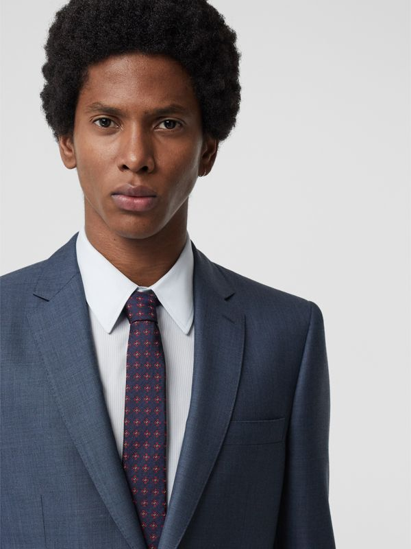Modern Cut Graphic Floral Silk Jacquard Tie in Military Red - Men | Burberry Hong Kong - cell image 2