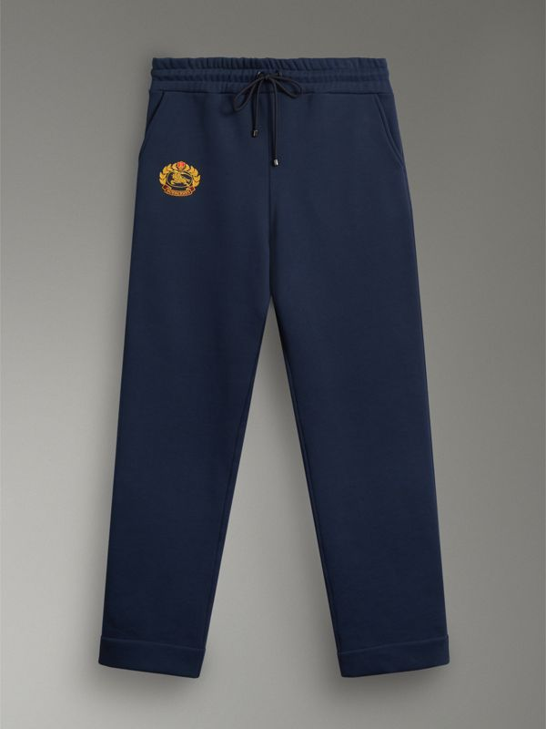Archive Logo Jersey Sweatpants in Dark Blue - Women | Burberry Australia - cell image 3