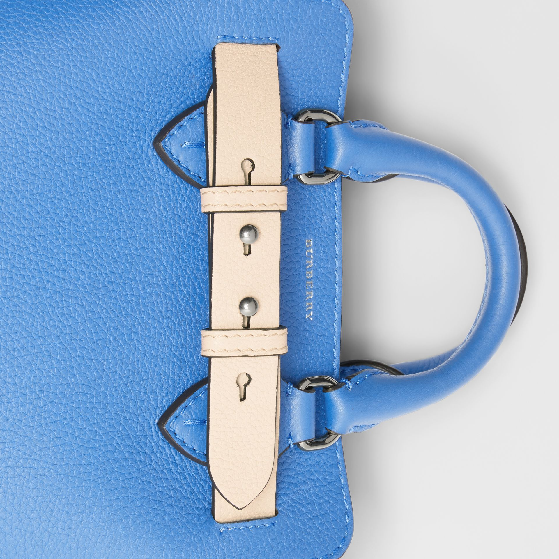 The Mini Leather Belt Bag in Hydrangea Blue - Women | Burberry - gallery image 1