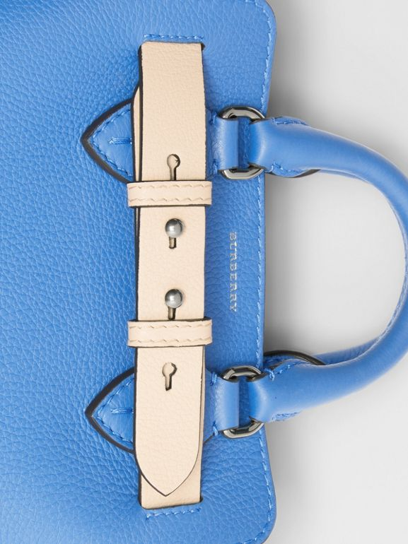 The Mini Leather Belt Bag in Hydrangea Blue - Women | Burberry - cell image 1