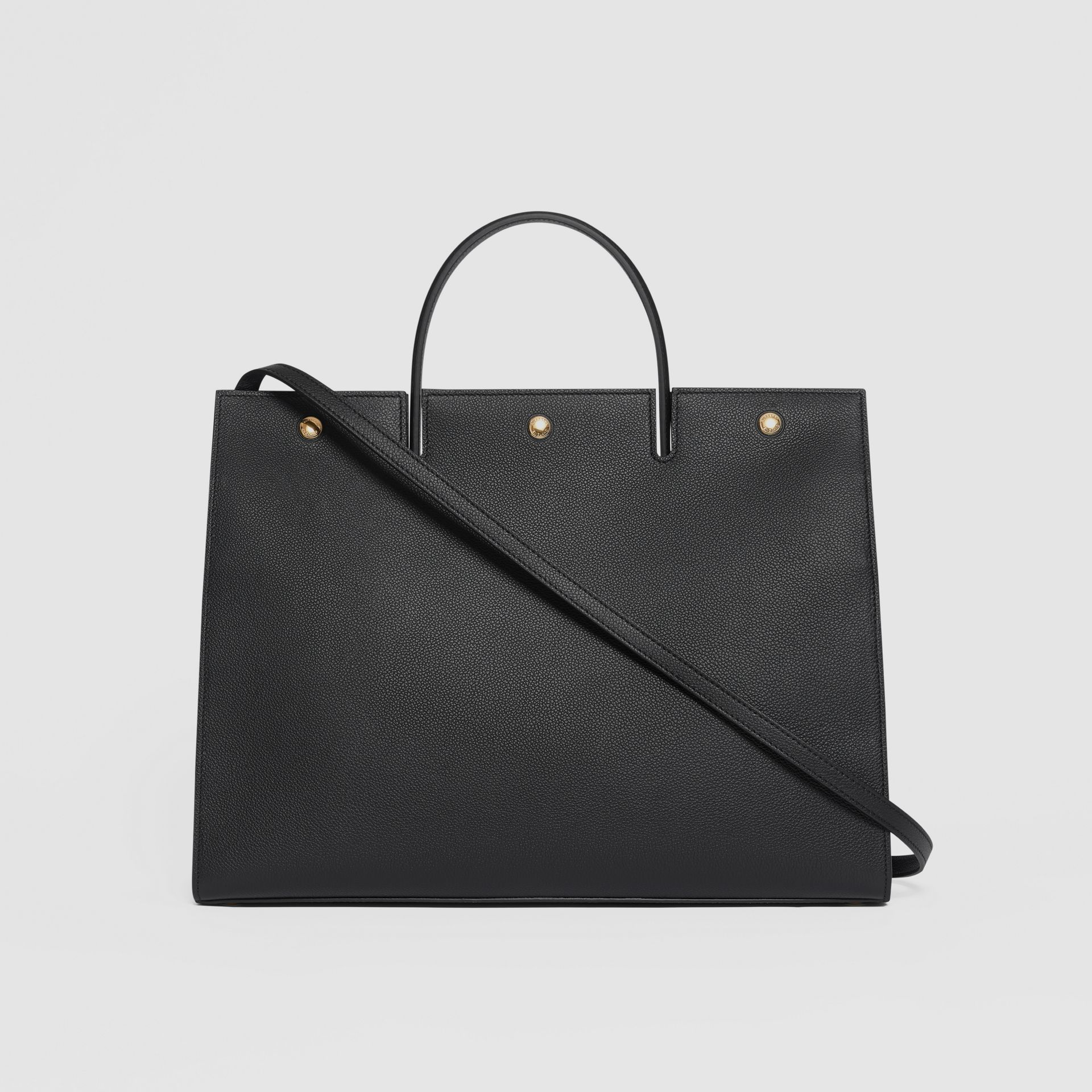 Large Leather Title Bag in Black - Women | Burberry - gallery image 7