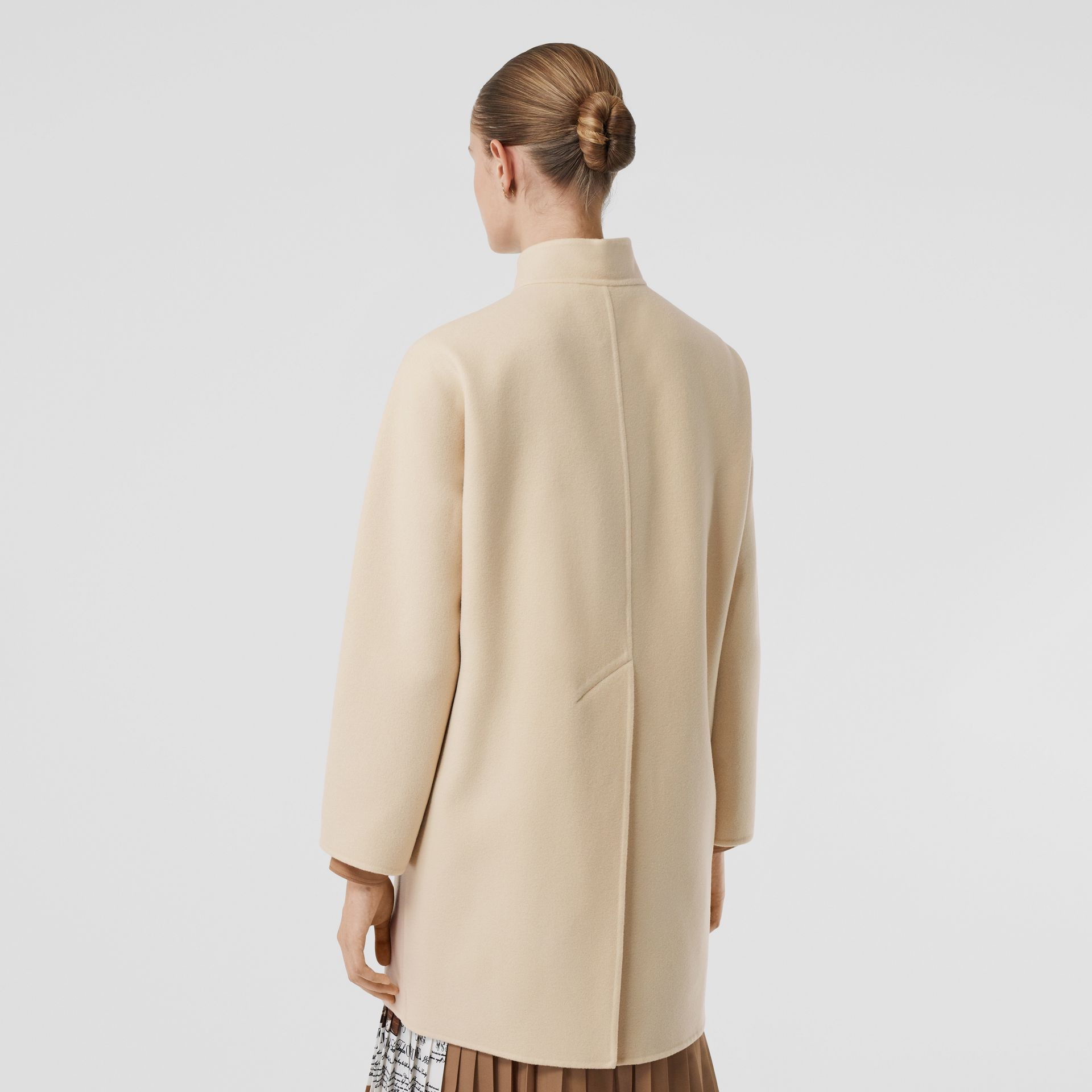 Wool Cashmere Tailored Coat in Sesame - Women | Burberry United States - gallery image 2