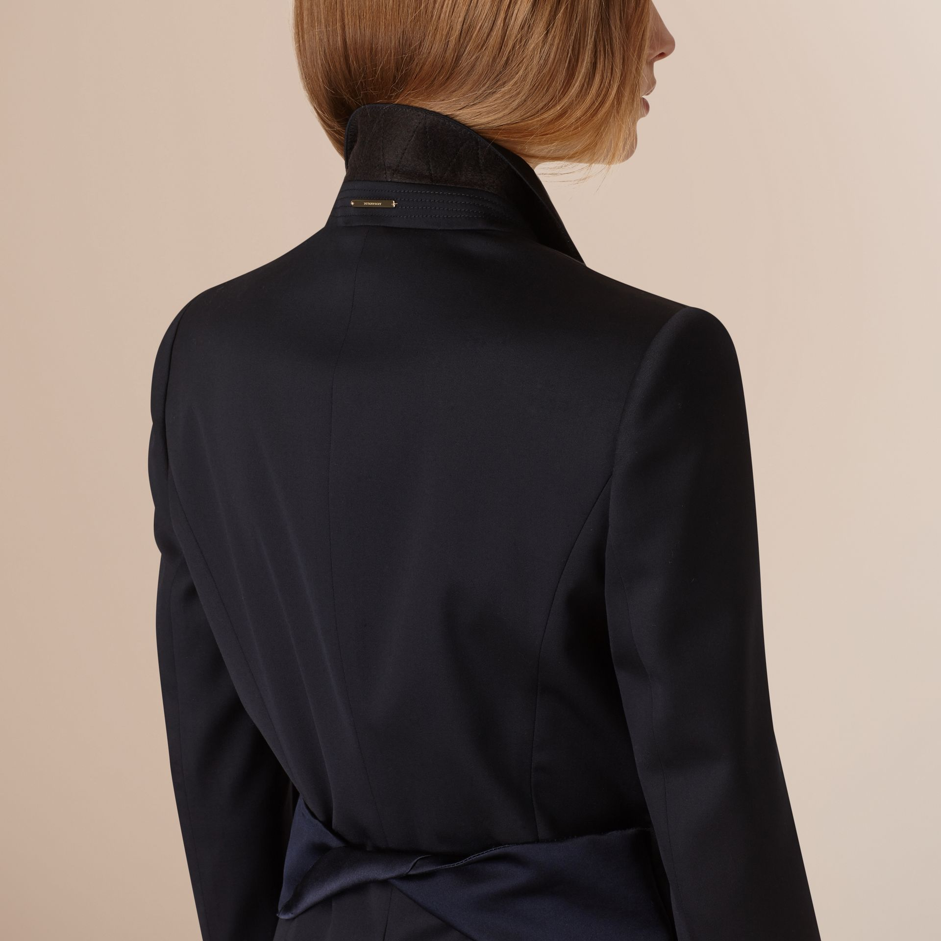 Ink Wool Blend Tuxedo Jacket - gallery image 2