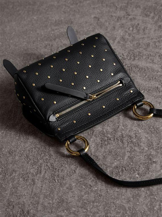 The Baby Bridle Bag in Riveted Leather in Black - Women | Burberry Australia - cell image 3