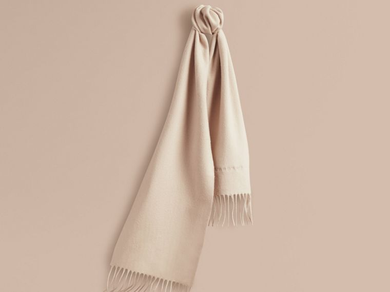 The Mini Classic Cashmere Scarf in Stone | Burberry - cell image 4