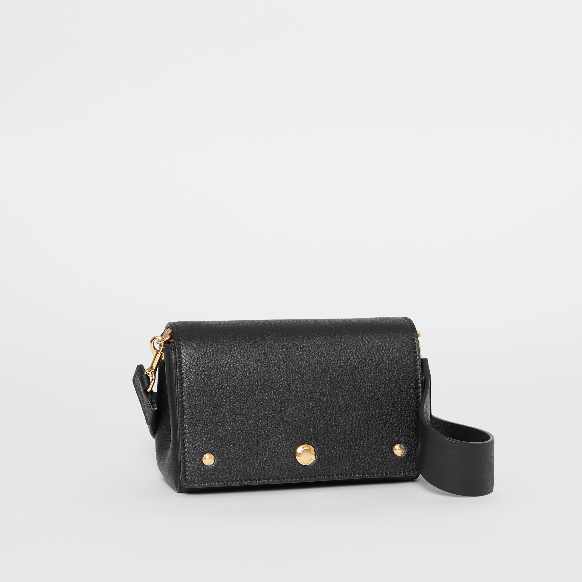 Small Grainy Leather Crossbody Bag in Black - Women | Burberry - gallery image 6
