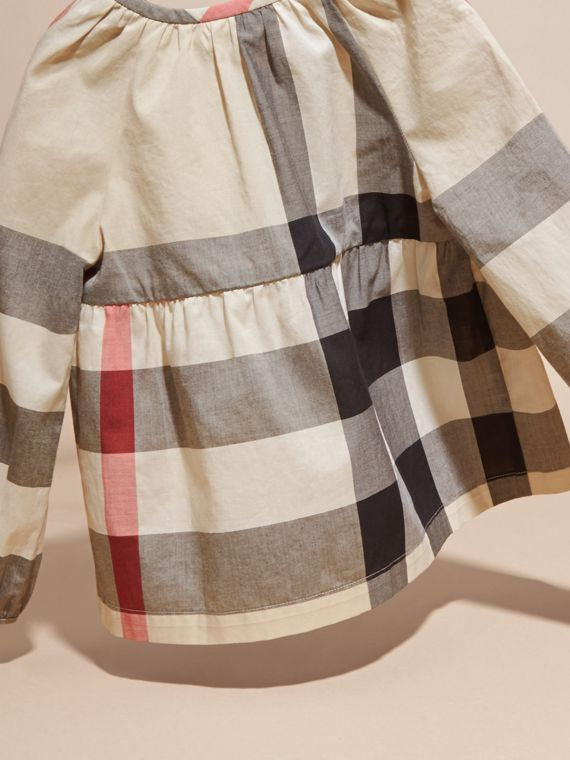 New classic check Puff Sleeve Check Cotton Blouse New Classic - cell image 3