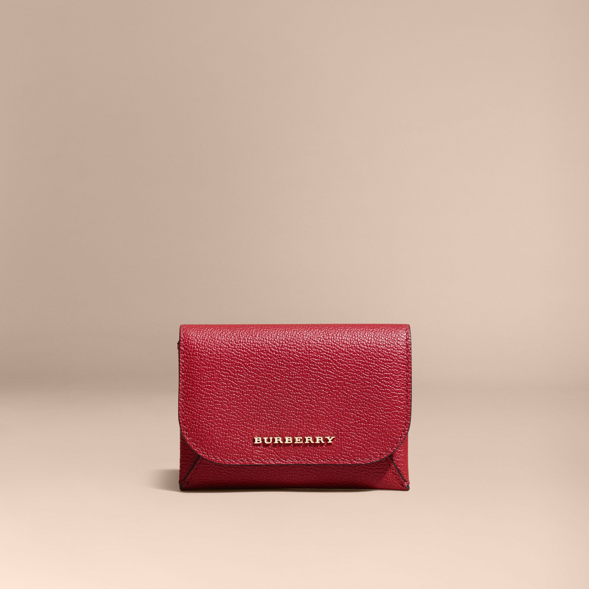 Leather Coin Case with Removable Card Compartment in Parade Red - Women | Burberry - gallery image 6
