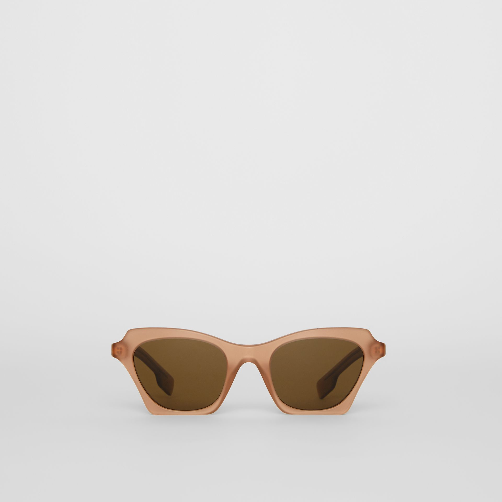 Butterfly Frame Sunglasses in Brown - Women | Burberry Canada - gallery image 0