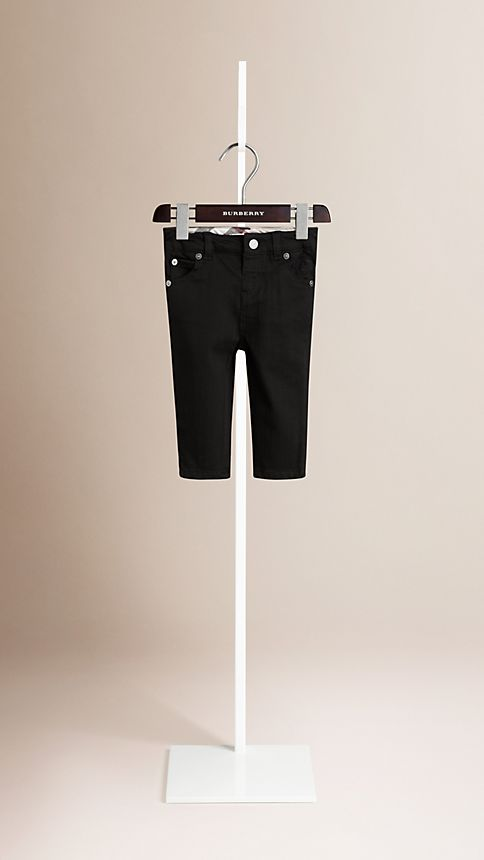 Black Langston Stretch Denim Jeans - Image 1