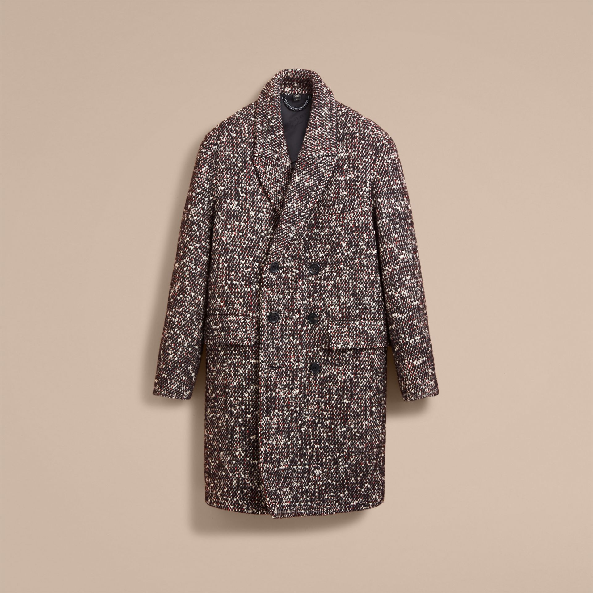 Wool Mohair Blend Tweed Topcoat - Men | Burberry - gallery image 4