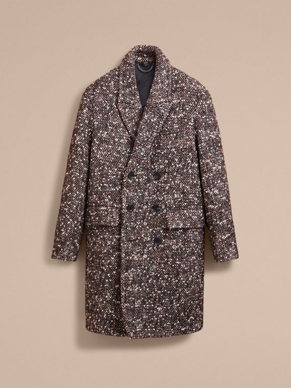 Wool Mohair Blend Tweed Topcoat - Men | Burberry - cell image 3