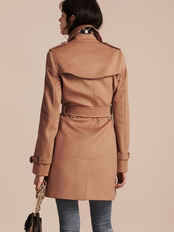 Trench coat in lana e cashmere (Cammello) - cell image 2