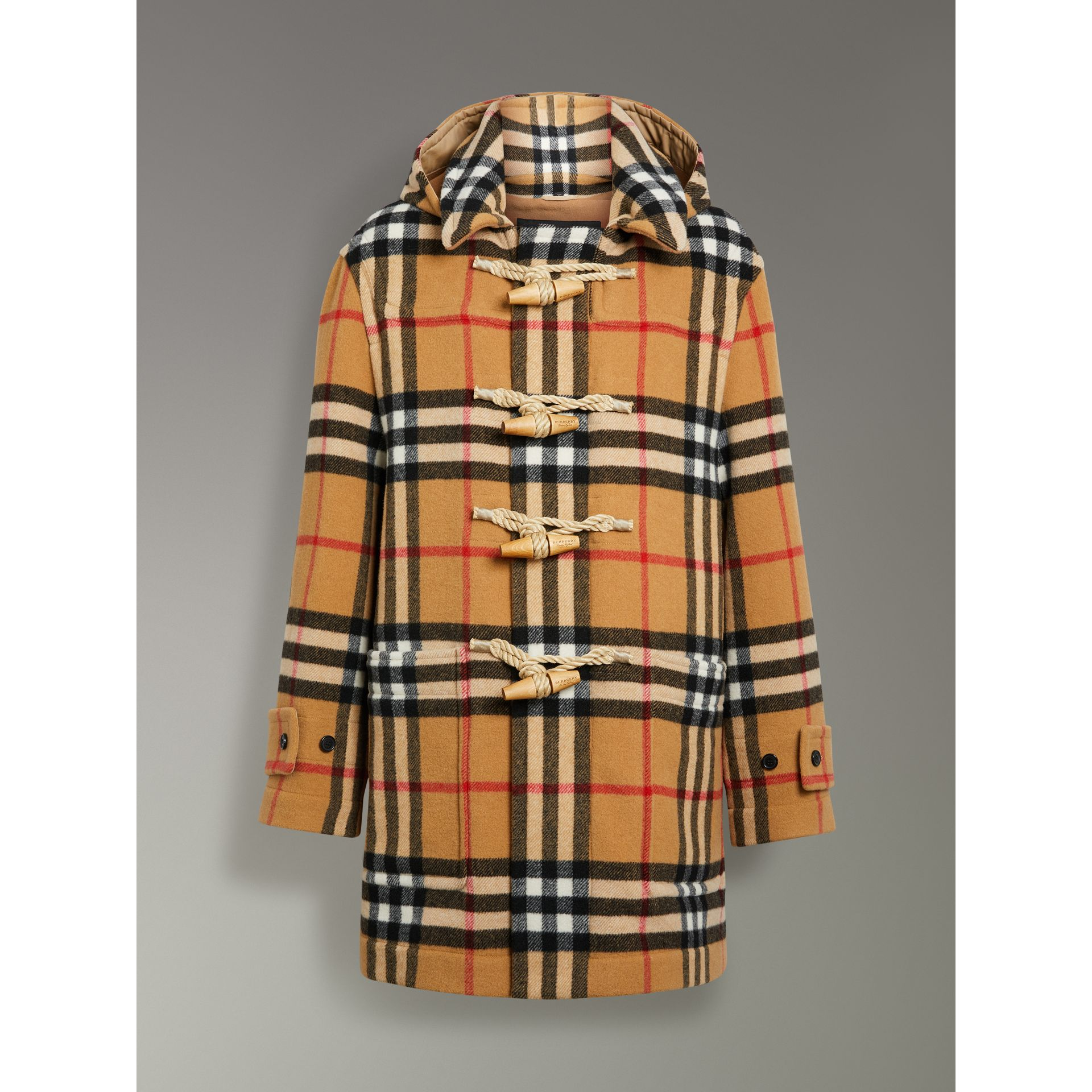 Duffle-coat oversize à motif check Gosha x Burberry (Jaune Antique) | Burberry Canada - photo de la galerie 3