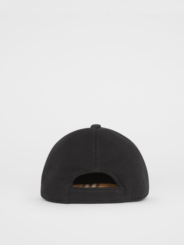 Embroidered Logo Baseball Cap in Black - Children | Burberry Singapore - cell image 2