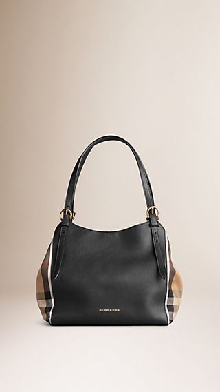 Petit sac The Canter en cuir avec motif House check