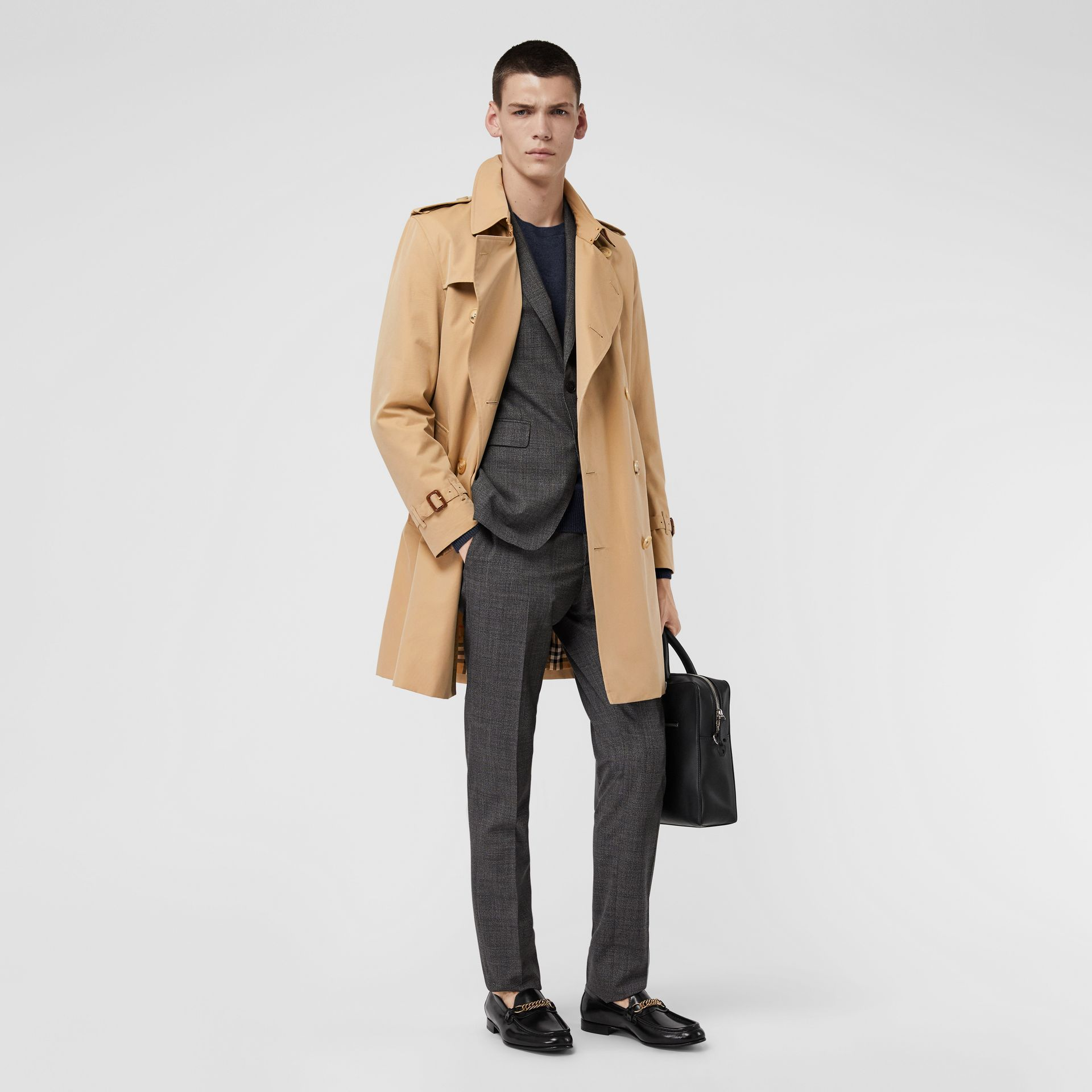 The Kensington Heritage Trench Coat in Honey - Men | Burberry Singapore - gallery image 0
