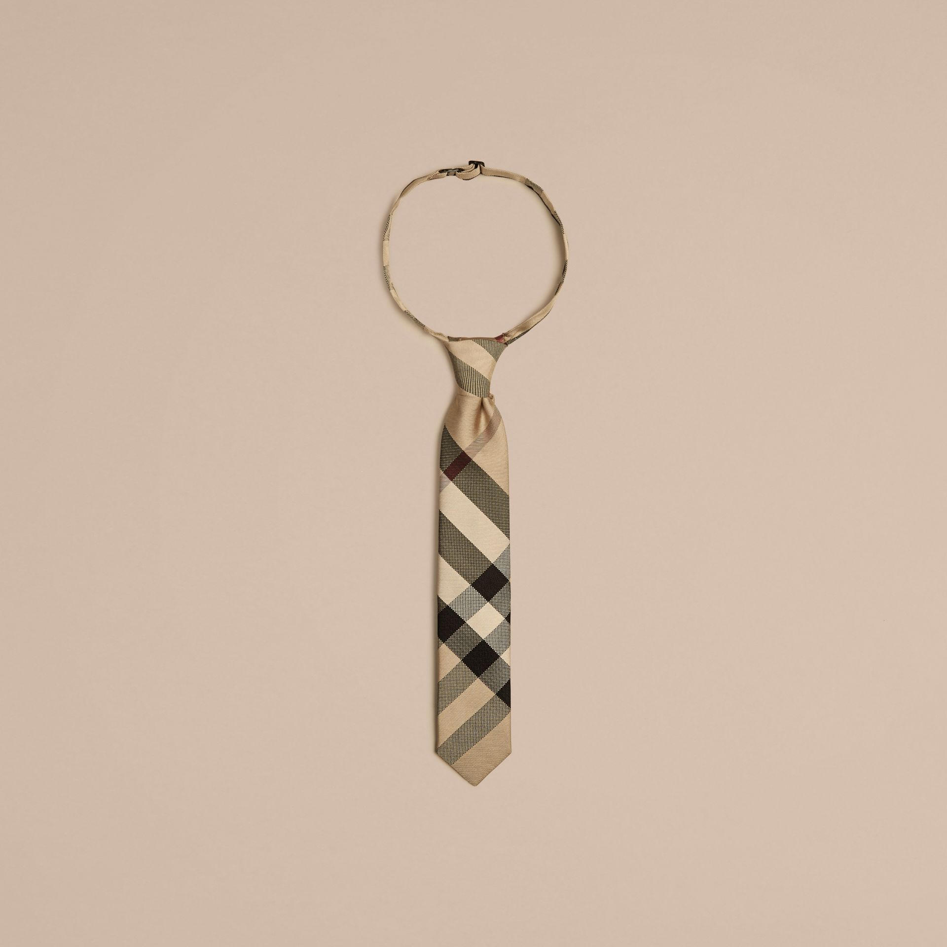 Modern Cut Check Silk Tie - Boy | Burberry - gallery image 1