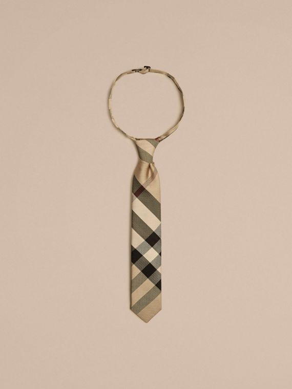 Modern Cut Check Silk Tie - Boy | Burberry