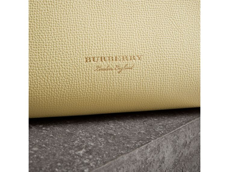 The Medium Banner in Leather and House Check in Camomile Yellow - Women | Burberry Canada - cell image 1