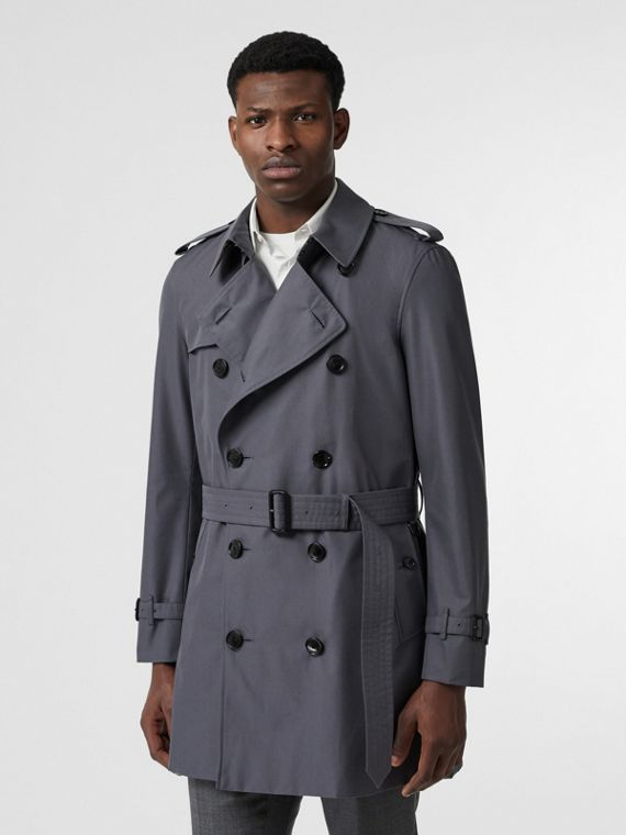 The Short Chelsea Trench Coat in Mid Grey