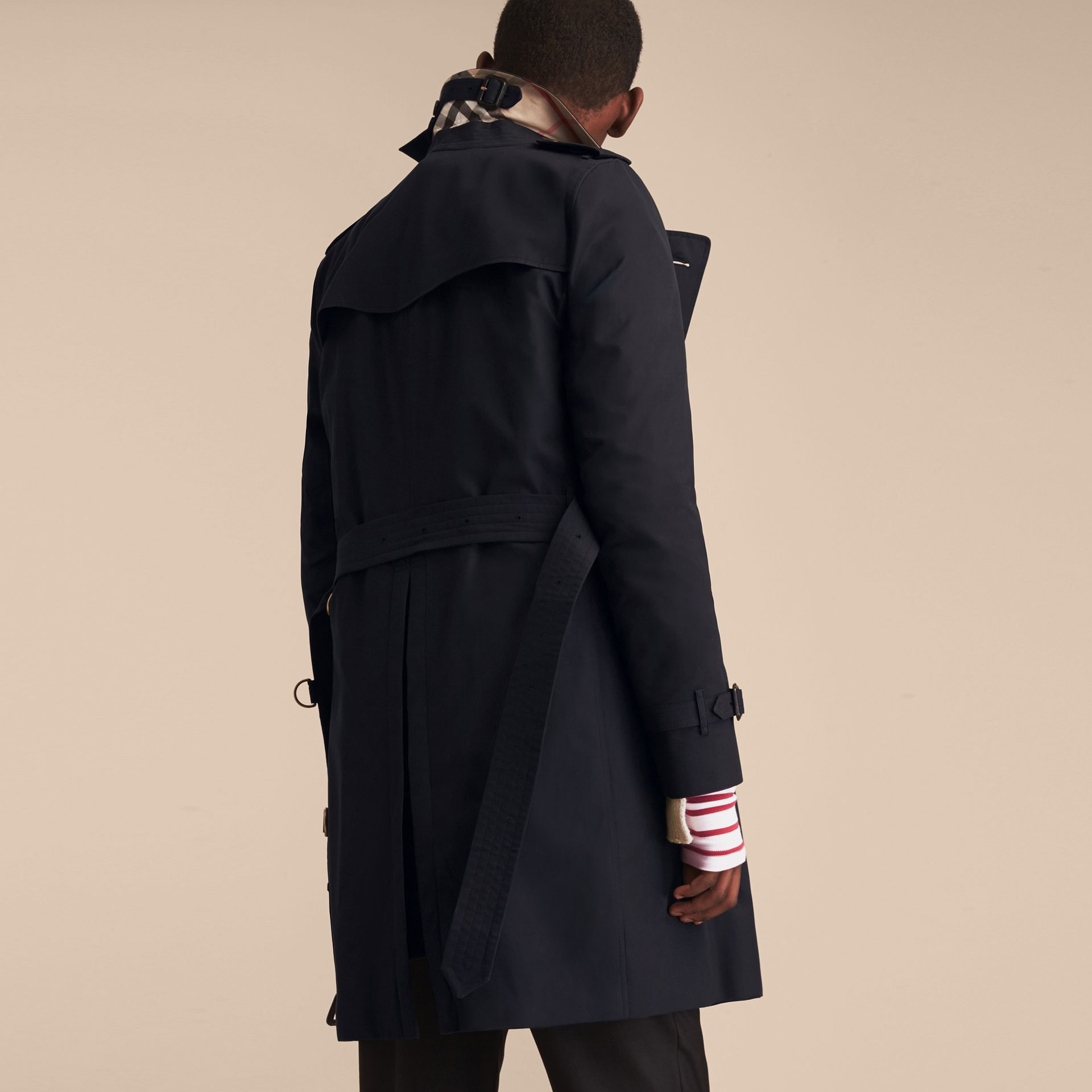 Navy The Kensington – Long Heritage Trench Coat Navy - gallery image 4