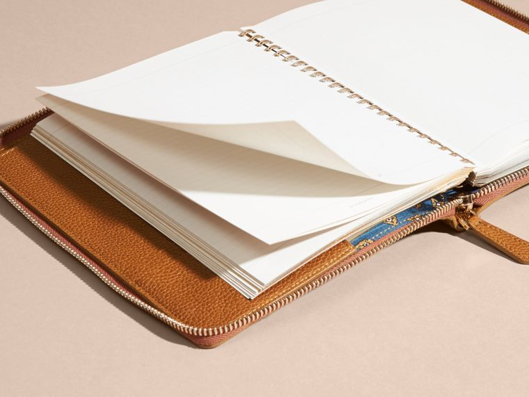 Light toffee Ziparound Grainy Leather A5 Notebook Light Toffee - cell image 4