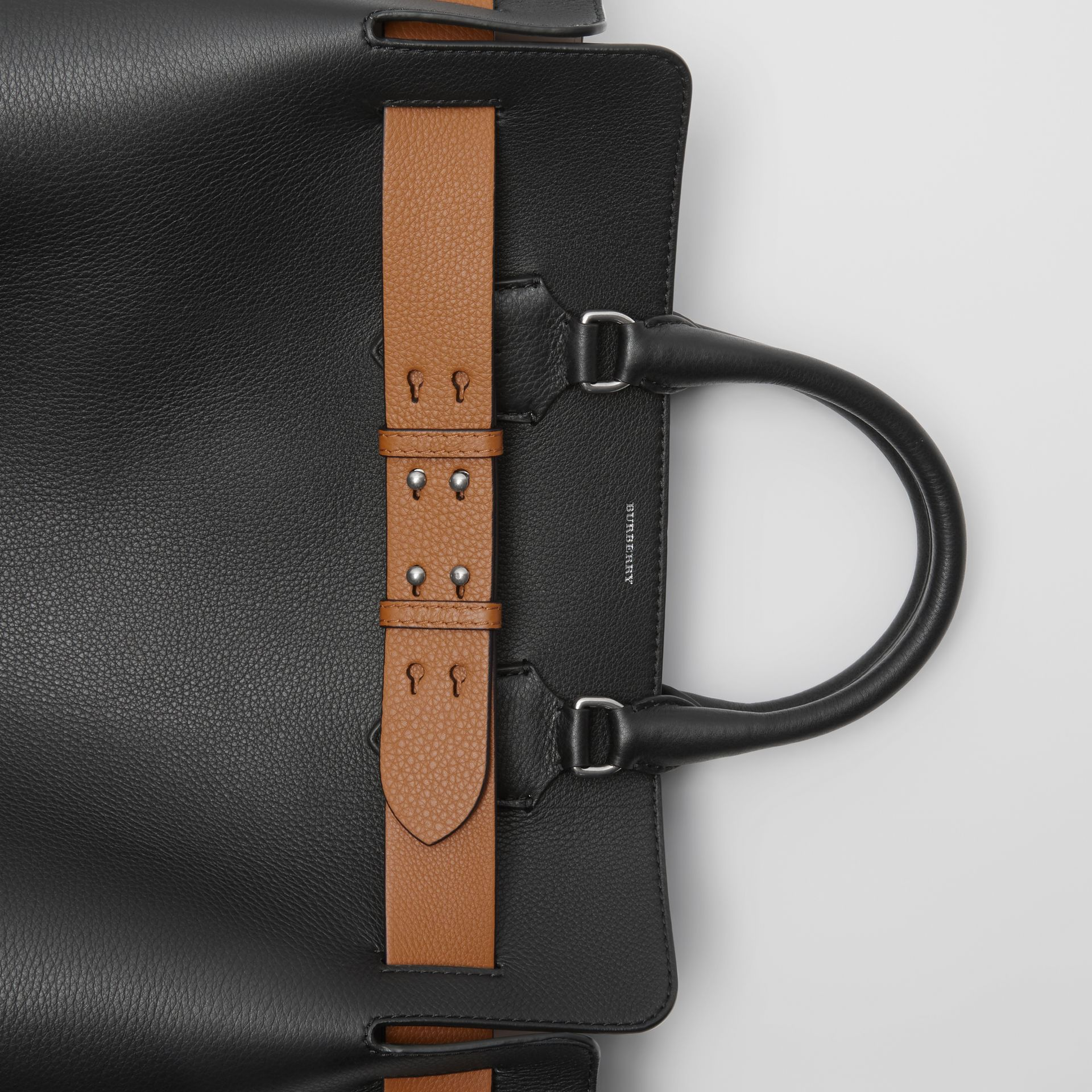 The Large Leather Belt Bag in Black - Women | Burberry Australia - gallery image 1