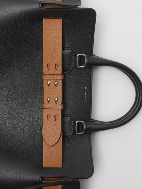 The Large Leather Belt Bag in Black - Women | Burberry Australia - cell image 1