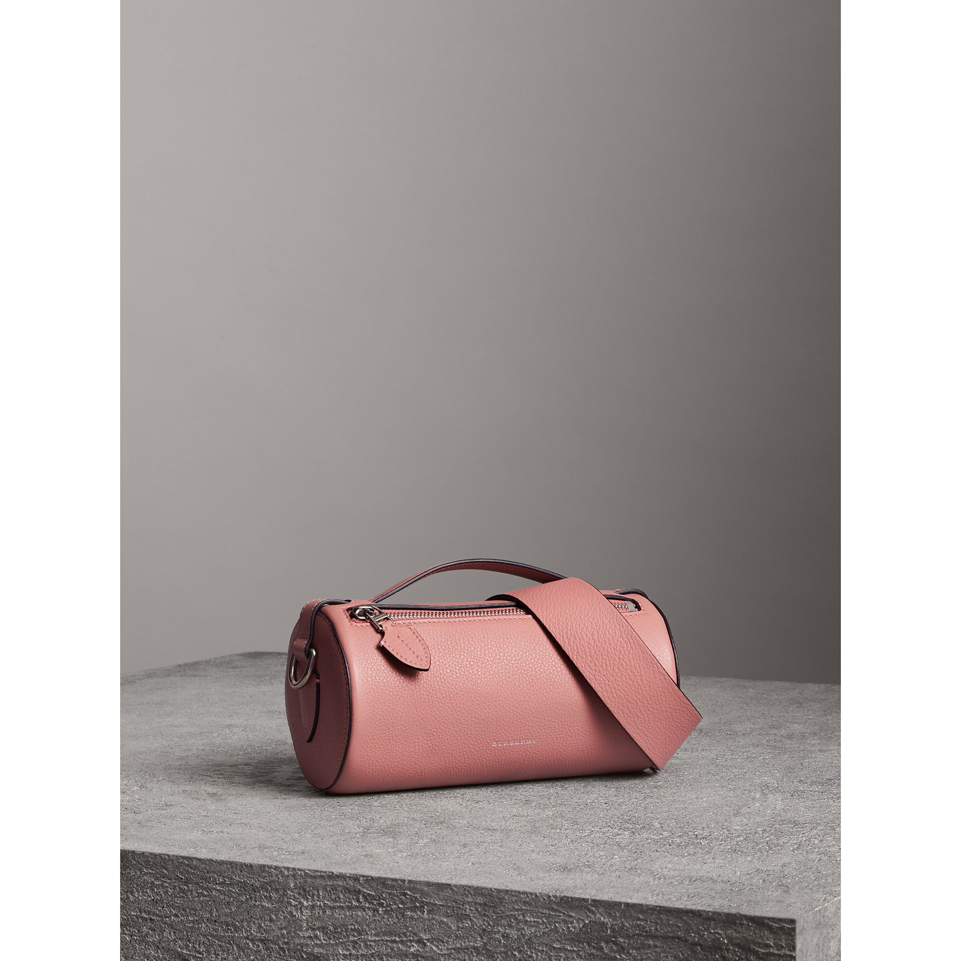 The Leather Barrel Bag in Dusty Rose - Women | Burberry - gallery image 6