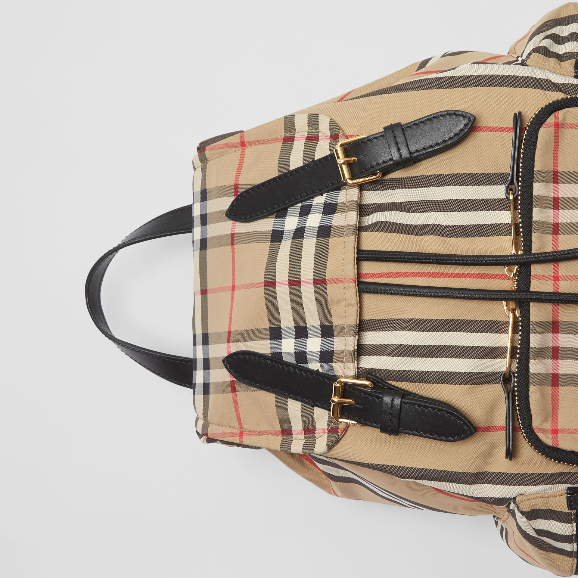 The Medium Rucksack in Icon Stripe Nylon in Archive Beige - Women | Burberry - gallery image 1