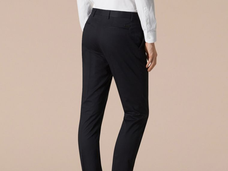 Slim Fit Cotton Trousers - cell image 2