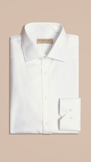 Modern Fit Cotton Twill Shirt