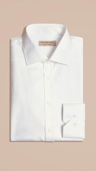 Modern Fit Cotton Twill Shirt