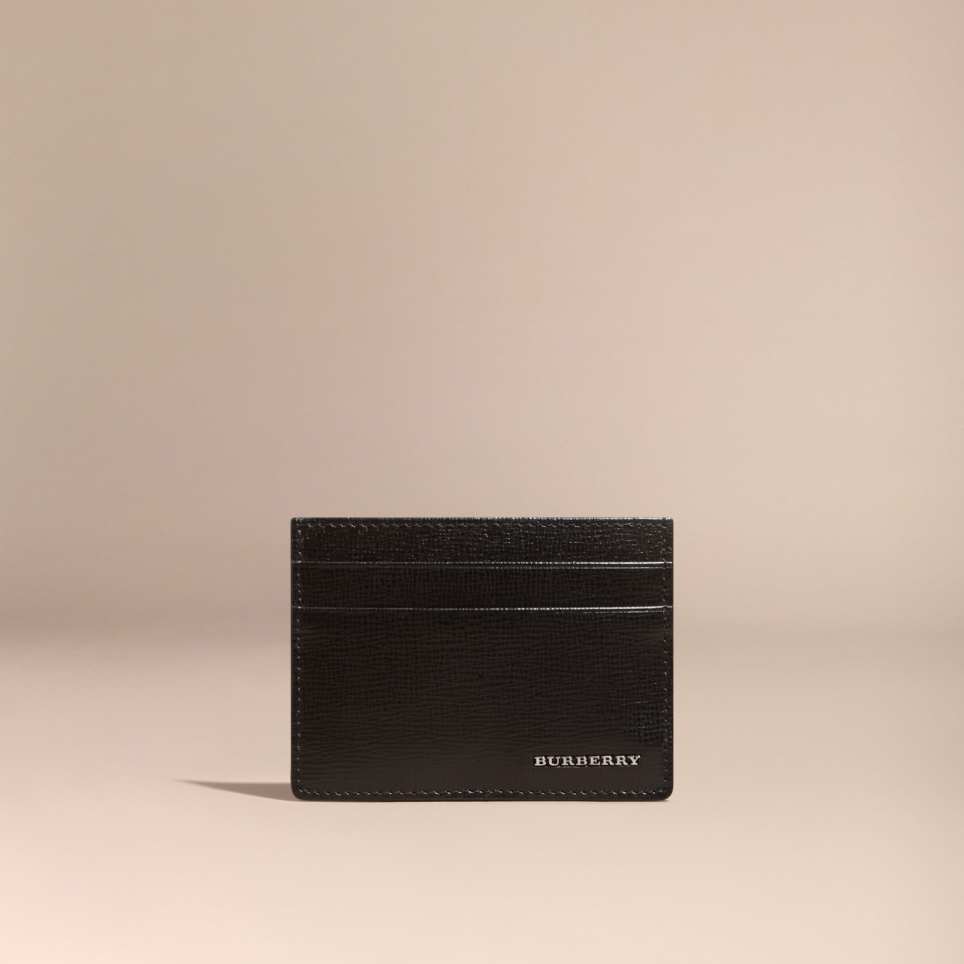 London Leather Card Case in Black | Burberry - gallery image 6
