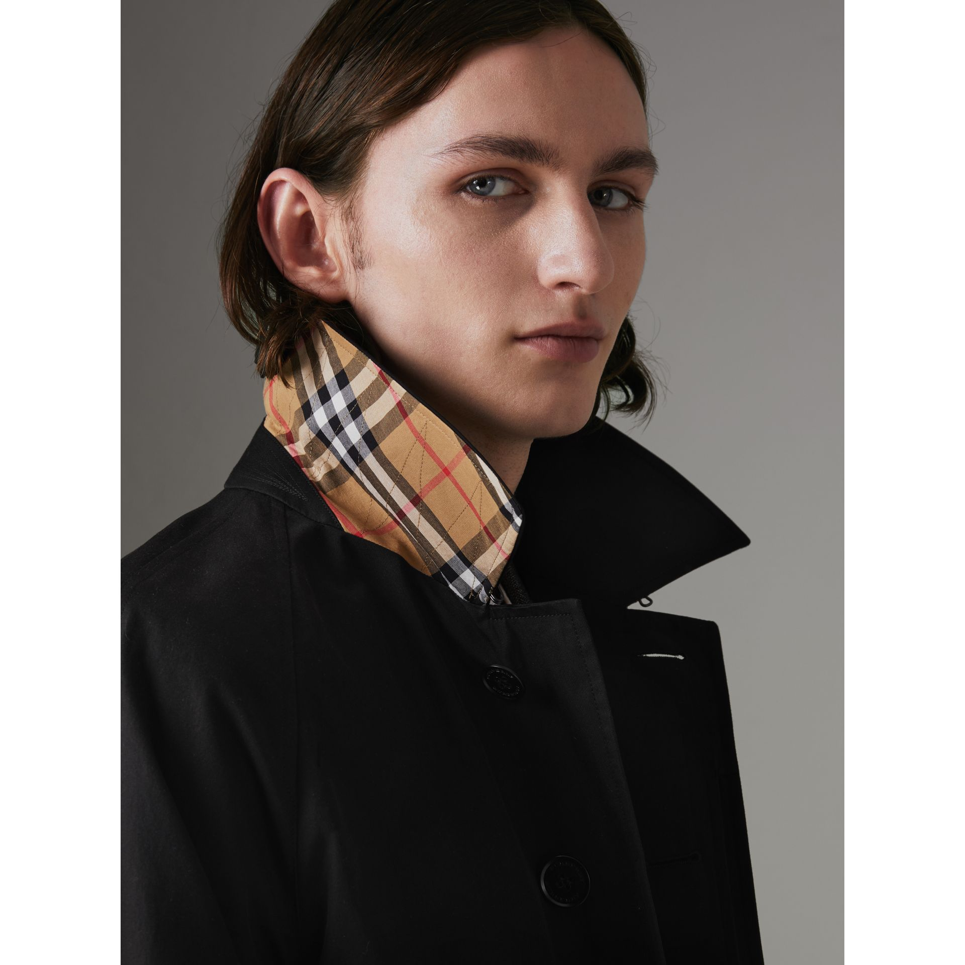 The Camden Car Coat in Black - Men | Burberry Canada - gallery image 1