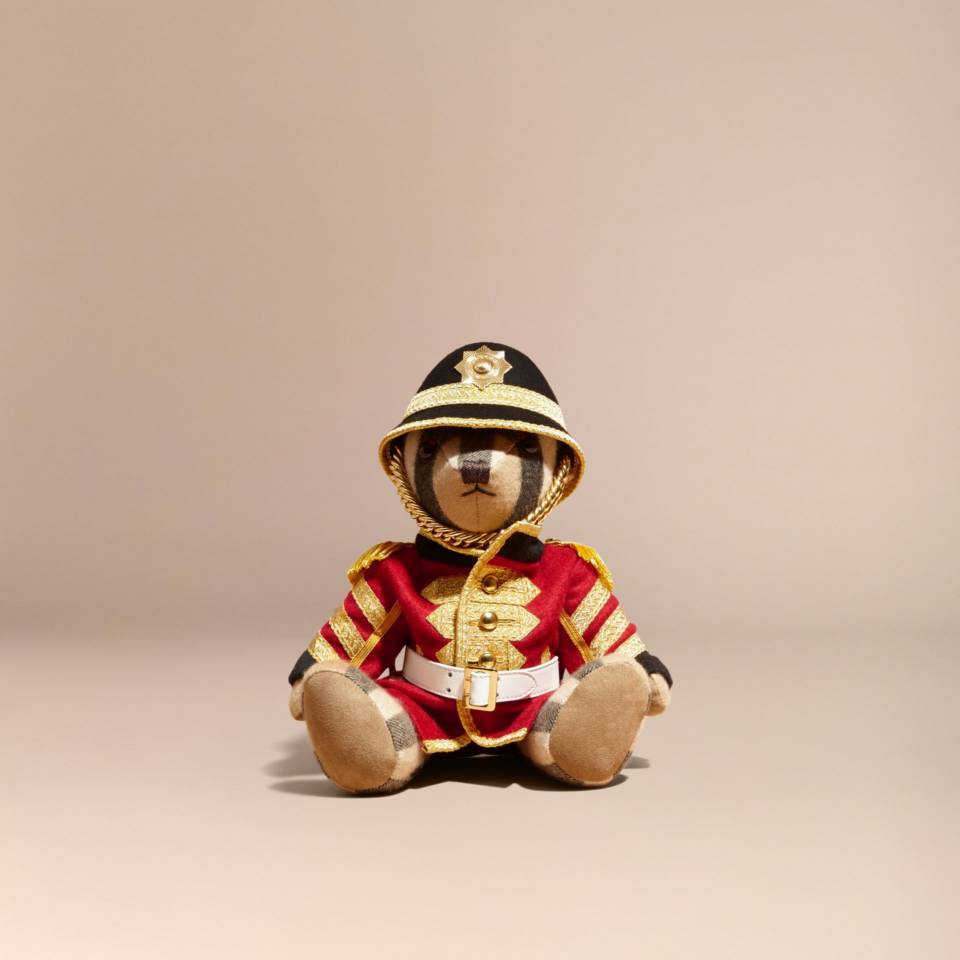 Camel Regimental Thomas Bear in Check Cashmere - gallery image 4