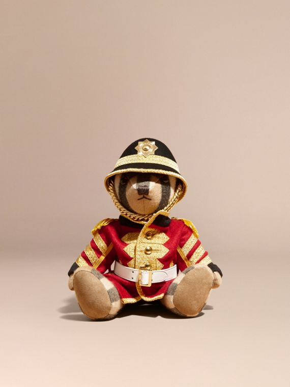 Regimental Thomas Bear in Check Cashmere in Camel | Burberry - cell image 3