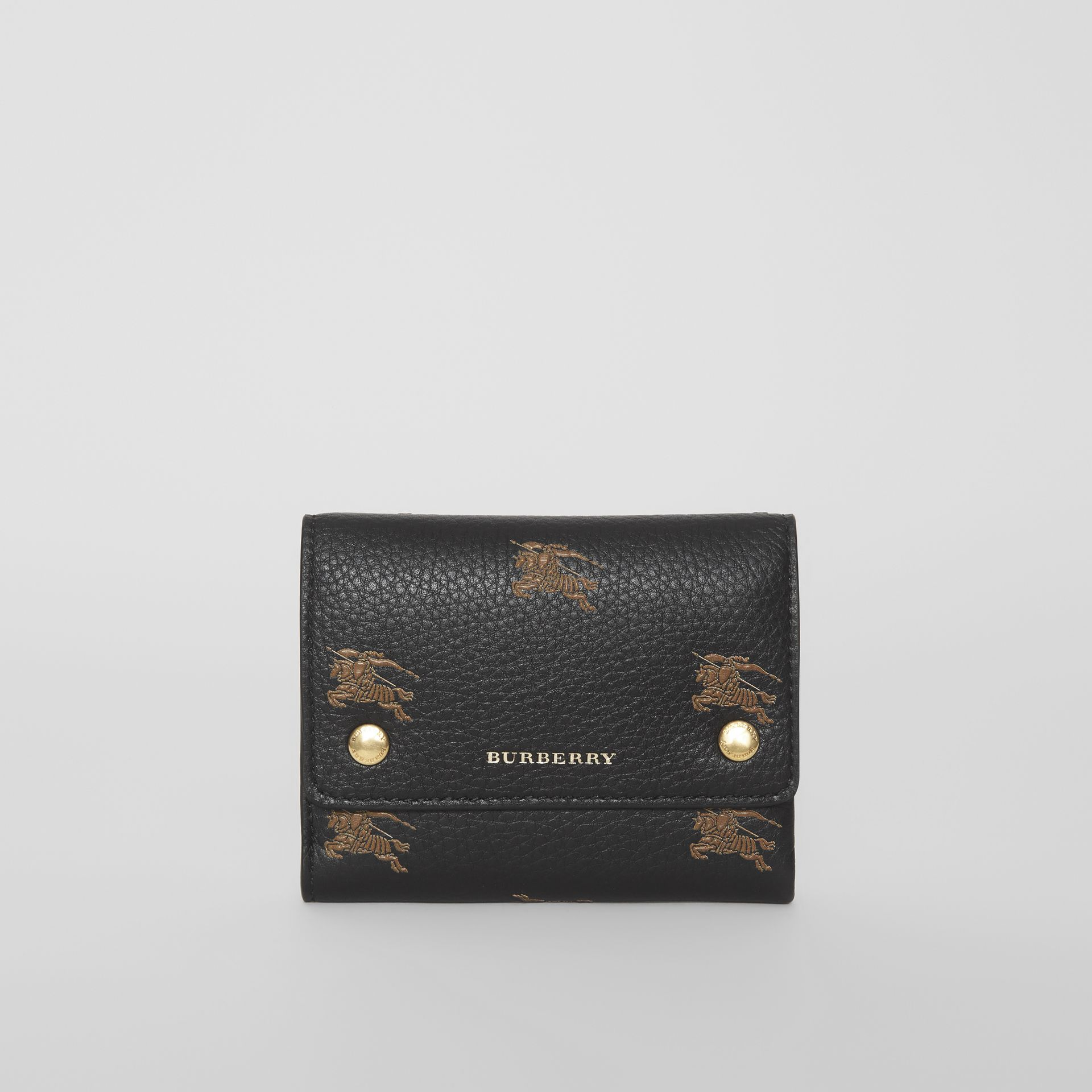 Small EKD Leather Wallet in Black - Women | Burberry - gallery image 2