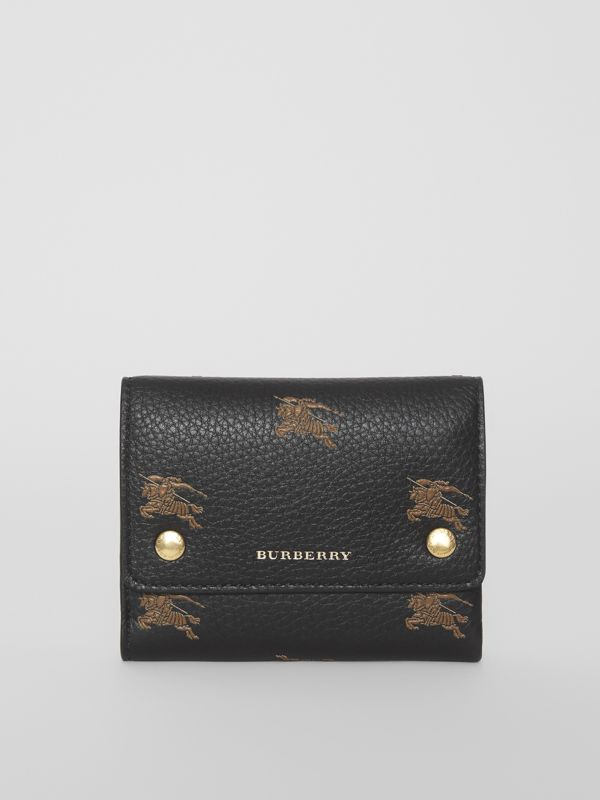 Small EKD Leather Wallet in Black - Women | Burberry - cell image 2