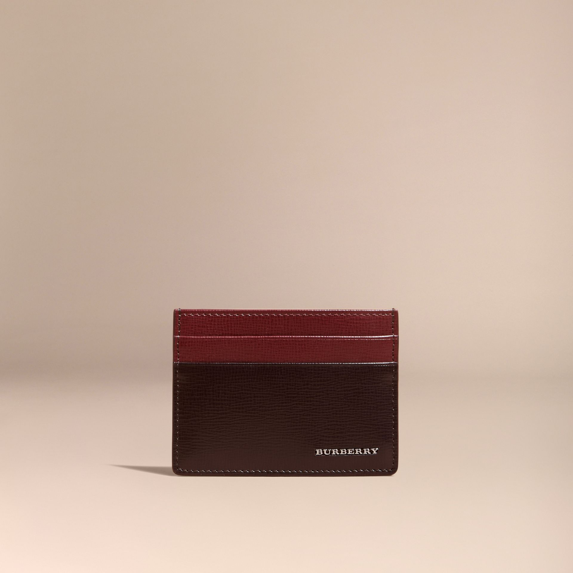 Wine/burgundy red Two-tone London Leather Card Case Wine/burgundy Red - gallery image 6