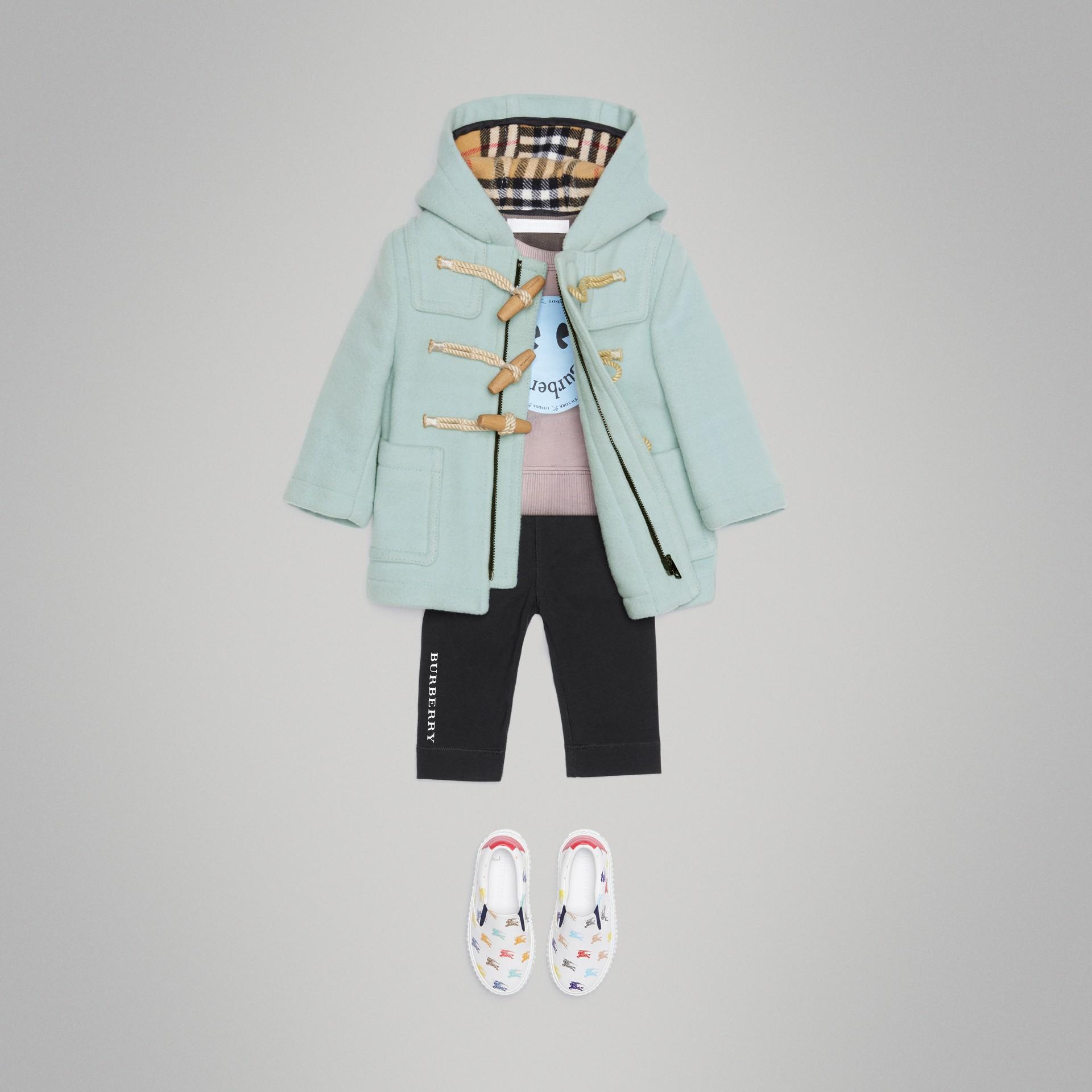 Montgomery in lana cotta (Menta Pallido) - Bambino | Burberry - immagine della galleria 2