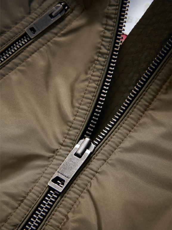 Hooded Packaway Technical Jacket in Olive | Burberry - cell image 1