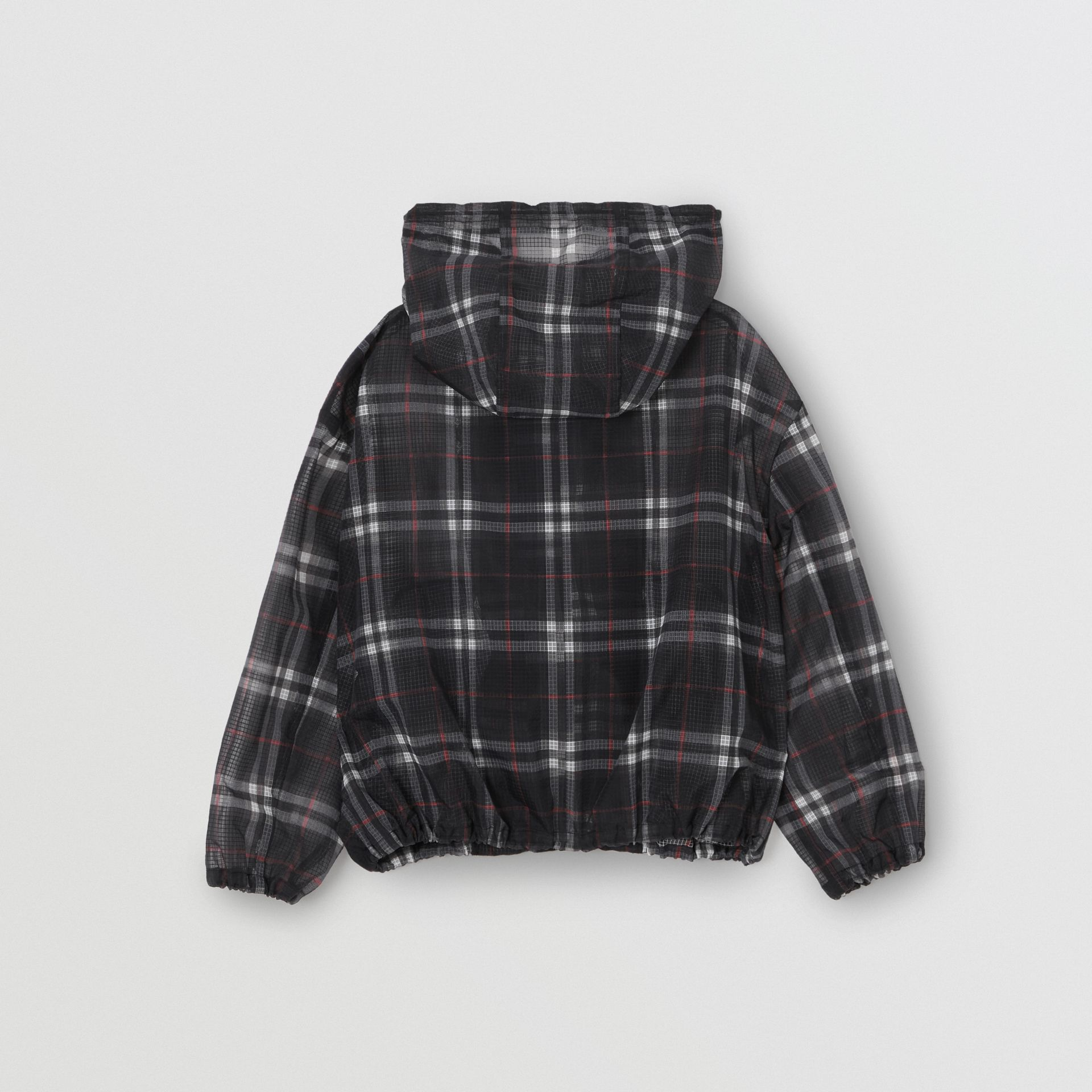 Vintage Check Nylon Hooded Jacket in Black | Burberry United Kingdom - gallery image 3