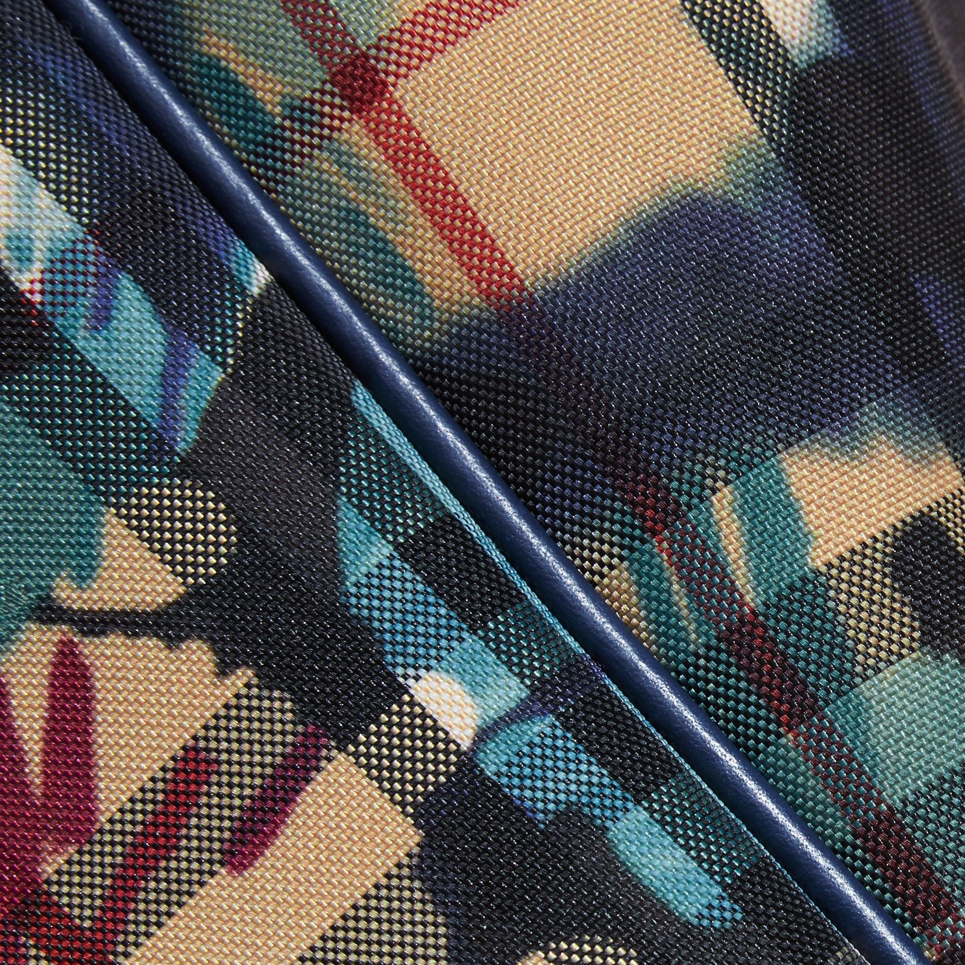 Navy/brilliant navy The Small Canter in Floral Tie-dye Check Navy/brilliant Navy - gallery image 2