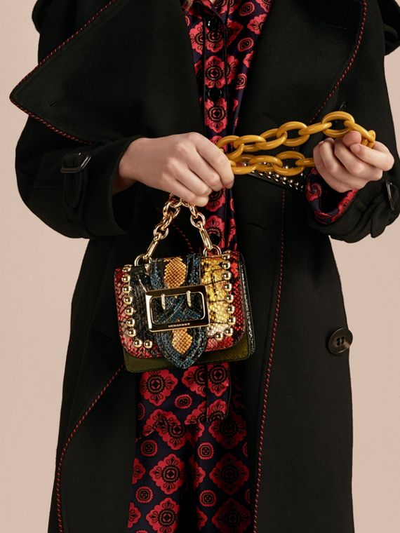 The Mini Square Buckle Bag in Calfskin and Riveted Snakeskin - cell image 2