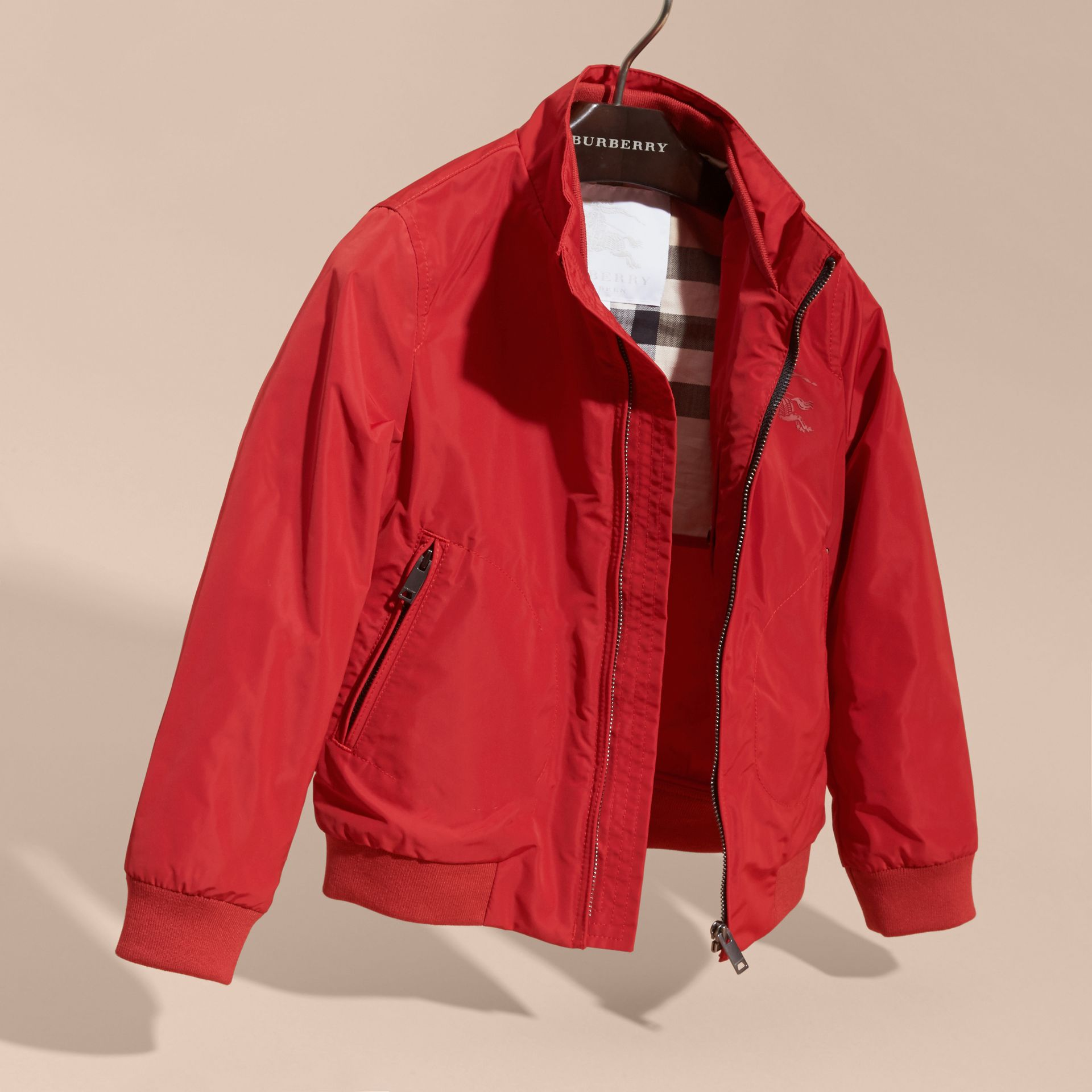 Packaway Blouson in Military Red - Boy | Burberry Australia - gallery image 3